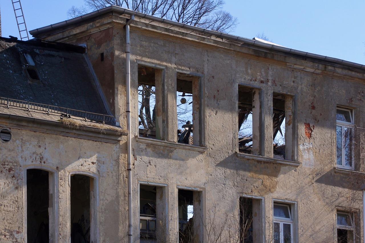 Gera Wintergarten Dach eingestürzt